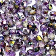 Glasschliffperlen 3mm Crystal Magic Purple 100 Stück