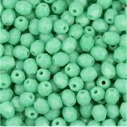 Glasschliffperlen 3mm opaque Turquoise 100 Stück