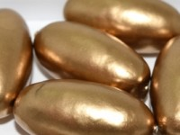 Paper Mache Bead Olive 40x18 mm Gold 1Stück