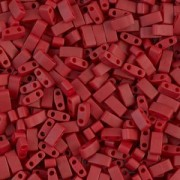Miyuki Halb Tila Beads 2,2x5mm matt metallic Brick Red HTL2040 ca 7,8gr