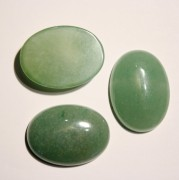 Cabochons oval 30x22x7mm Green Aventurine