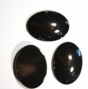 Cabochons oval 30x22x7mm Black Agate 1 Stück