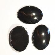 Cabochons oval 30x22x7mm Hematit 1 Stück