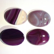 Cabochons oval 30x22x7mm Natural Striped Agathe 1 Stück