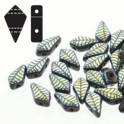 Kite Beads 9x5mm Jet Laser Leaf ca 10gr