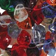 Glasperlen gepresst Blätter 9X14mm MIX16 Rainbow 50 Stück