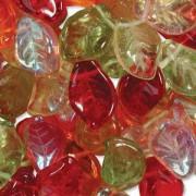 Glasperlen gepresst Blätter 9X14mm MIX19 Tango 50 Stück