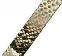 Lederband 10x2mm Schlangenoptik Grau 20cm lang
