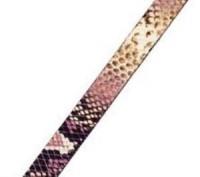 Lederband 10x2mm Schlangenoptik Lila 20cm lang