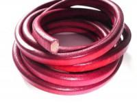 Lederband 10x7mm Garnet 20cm lang