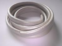 Lederband 10x7mm Pearsilver 20cm lang