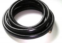 Lederband 10x7mm Schwarz 20cm lang