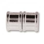 Magnetverschluss Bamboo 18mm Silberfarben 1Stück