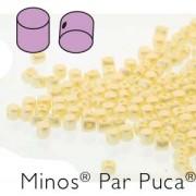 Minos par Puca ® 2,5x3mm 02010-25039 Pastel Cream ca 10 gr