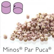 Minos par Puca ® 2,5x3mm 03000-15695 Opaque Mix Rose Gold Ceramic Look