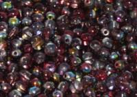 Glasperlen rund gepresst Crystal Magic Wine 3mm ca 150 Stück
