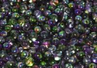 Glasperlen rund gepresst Crystal Magic Orchid 3mm ca 150 Stück