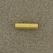 Magnetverschluß Steckverschluß 4mm zum Einkleben goldfarben matt