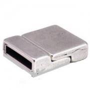 Magnetverschluss 20x18x5mm für 15x2mm Lederband silberfarben