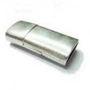 Magnetverschluss 25x12x7mm für 10x5mm Lederband silberfarben