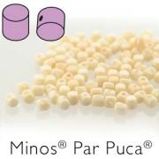 Minos par Puca ® 2,5x3mm 03000-14413 Opak Beige Ceramic Look ca 10 gr