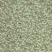Miyuki Delica Beads 1,6mm DB1453 silverlined opal  pale Lime ca 5gr