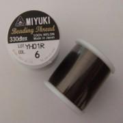 Miyuki Fädelgarn dunkelbraun 50m