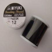 Miyuki Fädelgarn schwarz 50m