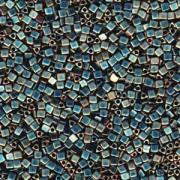 Miyuki Beads Sharp Triangle Beads 2,5mm 2008 metallic matt rainbow Turqouise  Light Green 13 Gr.