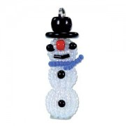 Miyuki Christmas Ornament Charm  Kit Schneemann