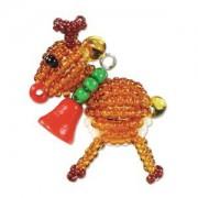 Miyuki Christmas Ornament Charm  Kit Rentier