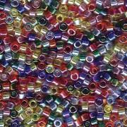 Miyuki Delica Beads 1,6mm Mix17 transparent Rainbow AB 7,2 Gr.