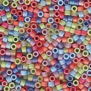 Miyuki Delica Beads 1,6mm Mix43 matte Rainbow AB 7,2 Gr.