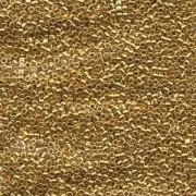 Miyuki Delica Beads  1,6mm DB0031 metallic 24 Karat Gold plated 5gr