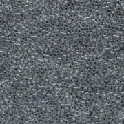 Miyuki Delica Beads 1,6mm DB0081 Lined Dark Grey AB 5gr