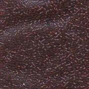 Miyuki Delica Beads 1,6mm DB0296 transparent rainbow Cranberry 5gr