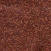 Miyuki Delica Beads 1,6mm DB0601 transparent silverlined Reddish Orange 5gr