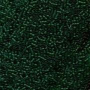 Miyuki Delica Beads 1,6mm DB0776 Transparent Dyed matt Kelly Green 5gr