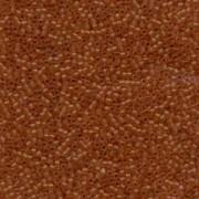 Miyuki Delica Beads 1,6mm DB0777 Transparent Dyed matt dark Amber 5gr