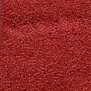 Miyuki Delica Beads 1,6mm DB0791 Opaque Dyed Red 5gr