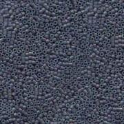Miyuki Delica Beads 1,6mm DB0132 opaque luster rainbow Steel Blue 5gr