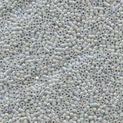 Miyuki Delica Beads 1,6mm DB1579 Opaque Ghost Grey AB 5gr