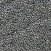 Miyuki Delica Beads 1,6mm DB0168 opaque rainbow Grey 5gr