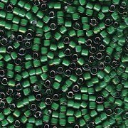 Miyuki Delica Beads 1,6mm DB1788 White Lined Emerald AB 5gr