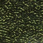Miyuki Delica Beads 3mm DBL0011 metallic Olive ca 6,8 Gr.