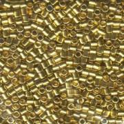 Miyuki Delica Beads 3mm DBL0031 metallic 24 Karat Gold plated ca 6,8 Gr.
