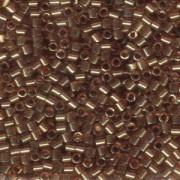 Miyuki Delica Beads 3mm DBL0115 transparent luster Gold Rose ca 6,8 Gr.