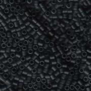 Miyuki Delica Beads 3mm DBL0310 matte Black ca 6,8 Gr.