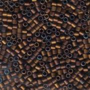 Miyuki Delica Beads 3mm DBL0312 metallic matte Dark Copper ca 6,8 Gr.