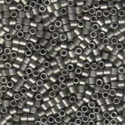 Miyuki Delica Beads 3mm DBL0321 metallic matte Dark Nickel Silver ca 6,8 Gr.